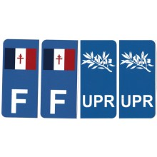 Lot de 4 autocollants UPR France Libre