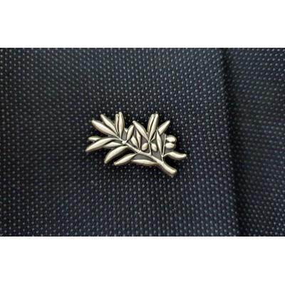Epinglette bronze rameau d'olivier