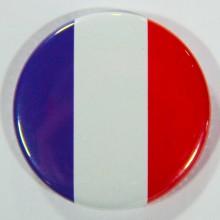 Badge drapeau français 38mm