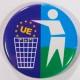 Badge UE poubelle 38mm