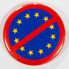 Badge UE barrée 38mm