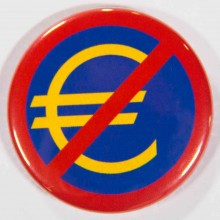 Badge euro barré 38mm