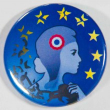 Badge UPR Marianne 38mm
